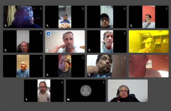 Reunión virtual con los delegados de los clubes